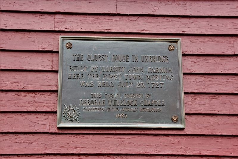 The Oldest House in Uxbridge Marker image. Click for full size.
