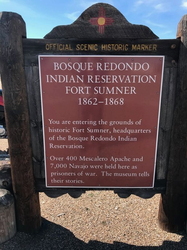 Bosque Redondo Indian Reservation Marker image. Click for full size.