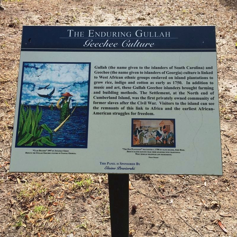 The Enduring Gullah/Geechee Culture Marker image. Click for full size.