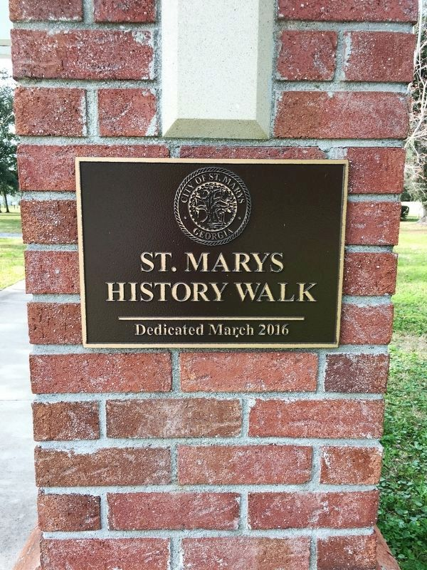 St. Marys History Walk commemoration plaque image. Click for full size.
