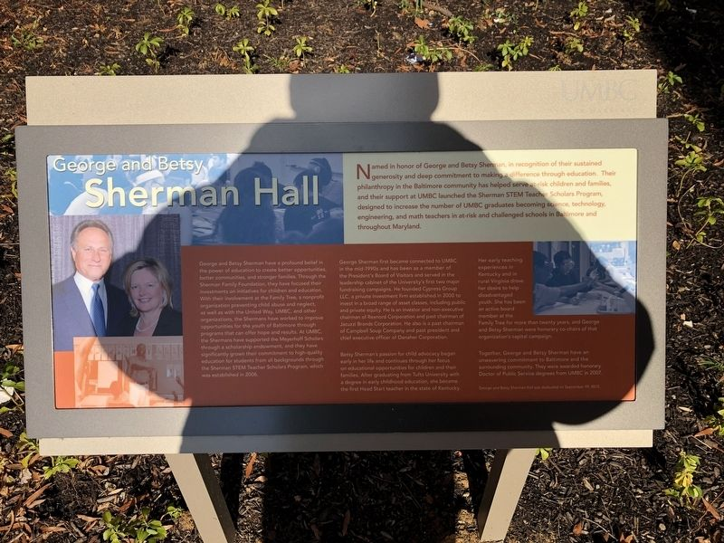 George and Betsy Sherman Hall Marker image. Click for full size.