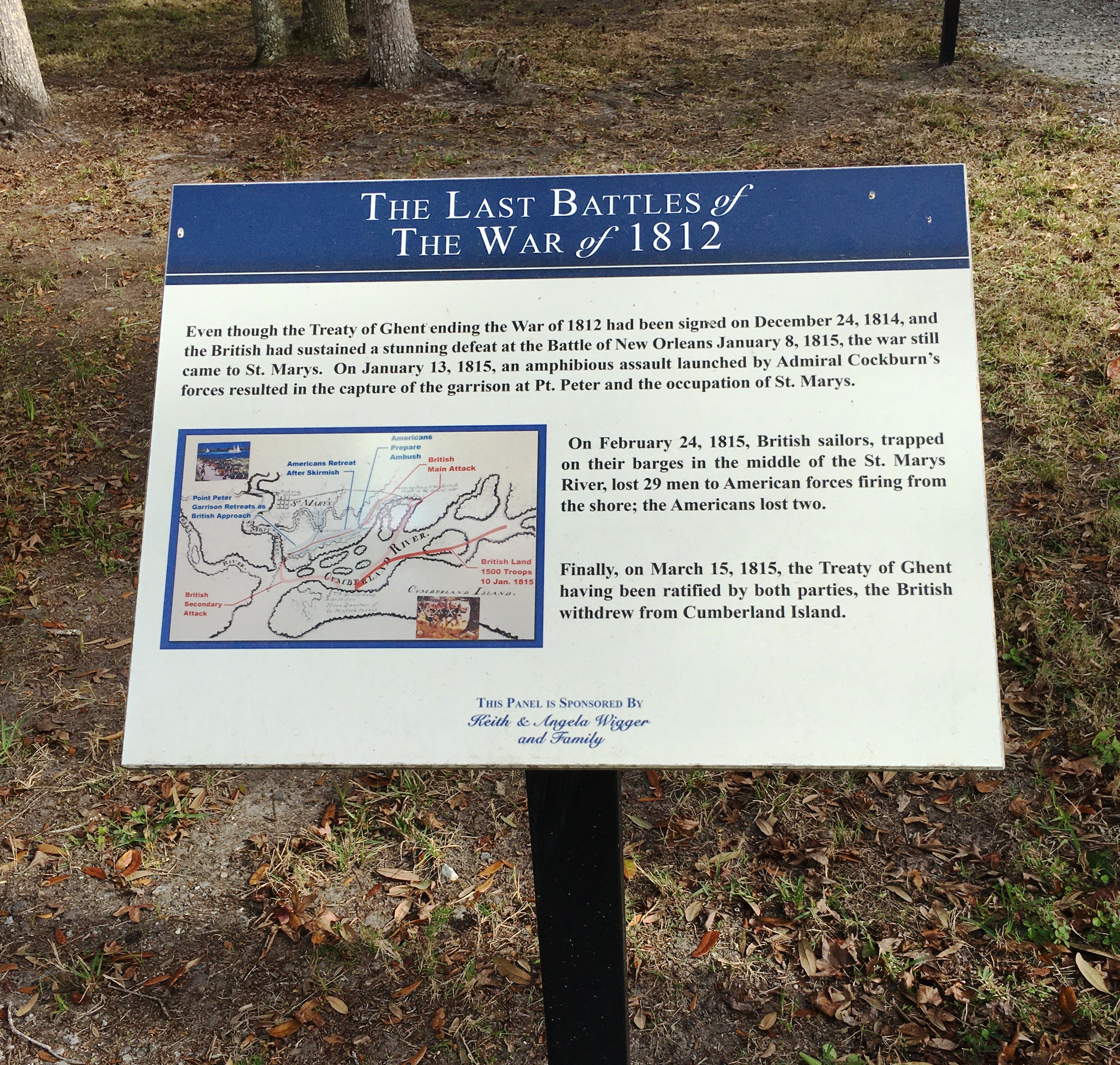 The Last Battles of The War of 1812 Marker
