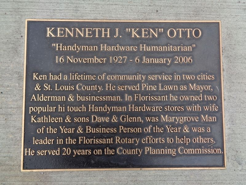 "Kenneth J. ""Ken"" Otto Marker image. Click for full size."