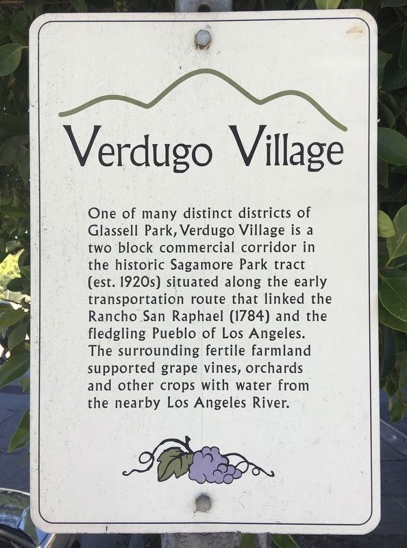Verdugo Village Marker image. Click for full size.