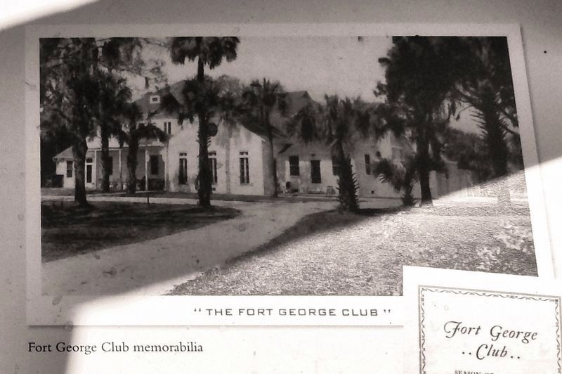 Marker detail: Fort George Club image. Click for full size.