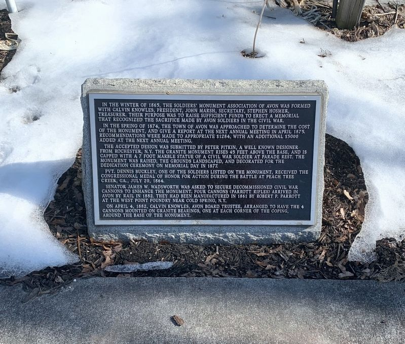 About the Avon Civil War Monument image. Click for full size.