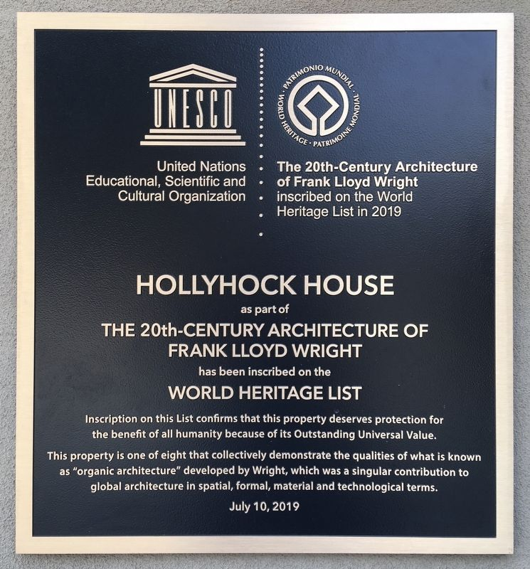 Hollyhock House Marker image. Click for full size.