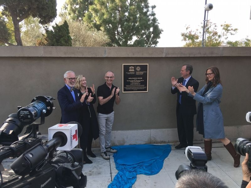 Marker Unveiling image. Click for full size.