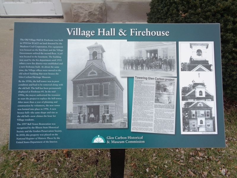 Village Hall & Firehouse Marker image. Click for full size.
