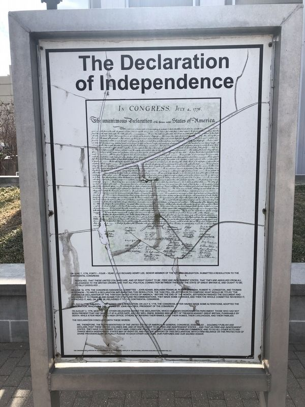 The Declaration of Independence side of the marker image. Click for full size.