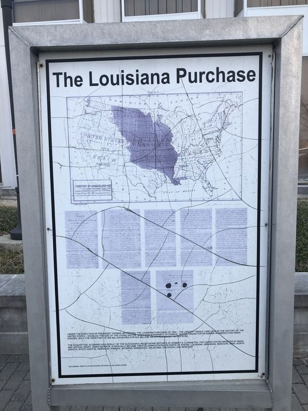 The Louisiana Purchase side of the marker image. Click for full size.