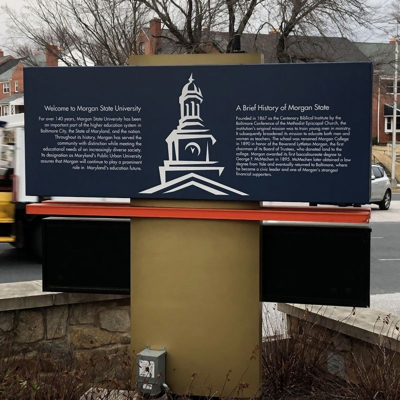 Morgan State University Marker image. Click for full size.