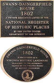 NRHP and VHL Plaques image. Click for full size.