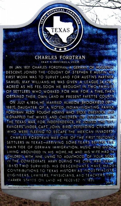 Charles Fordtran Marker image. Click for full size.