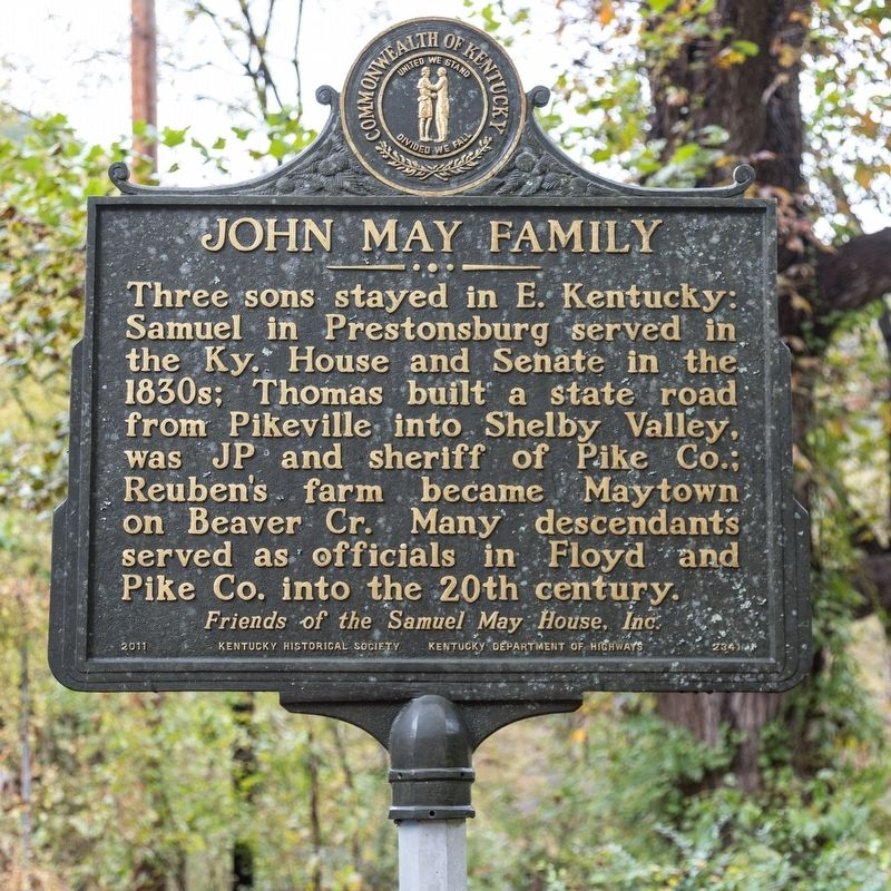 John May Family face of marker image. Click for full size.