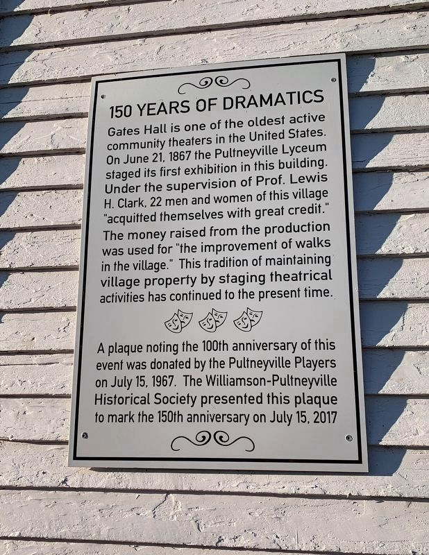 150 Years of Dramatics Marker image. Click for full size.