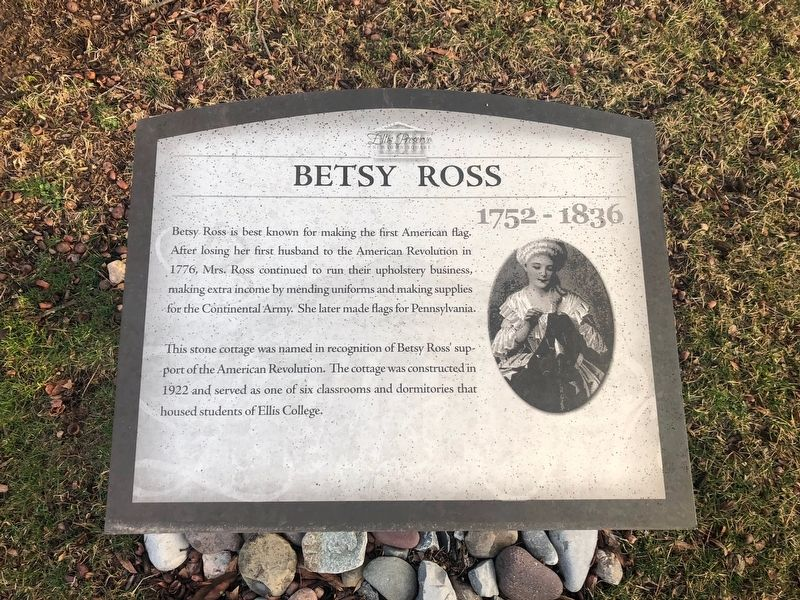 Betsy Ross Marker image. Click for full size.