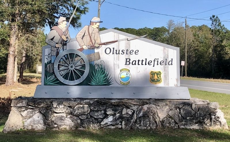 Olustee Battlefield Historic State Park entrance. image. Click for full size.