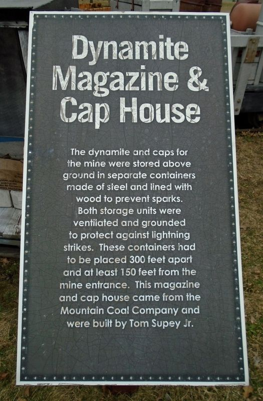 Dynamite Magazine & Cap House Marker image. Click for full size.