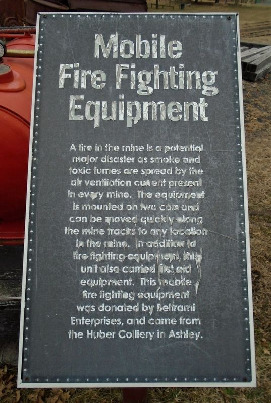Mobile Fire Fighting Equipment Marker image. Click for full size.