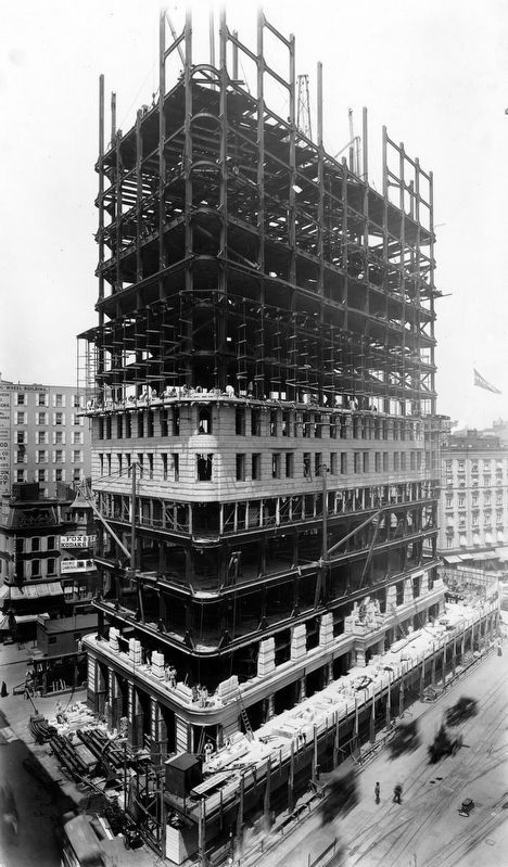 Flatiron Building under construction image. Click for full size.