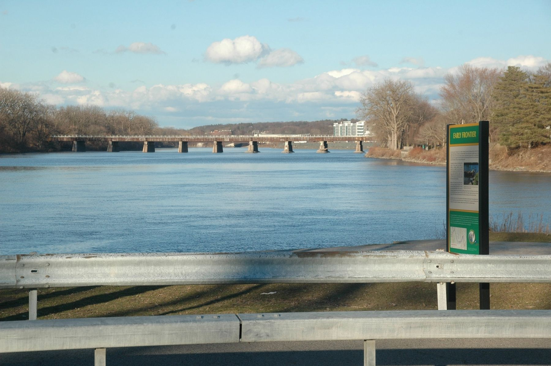 Early Frontier Marker with a view down the Mohawk River image. Click for full size.