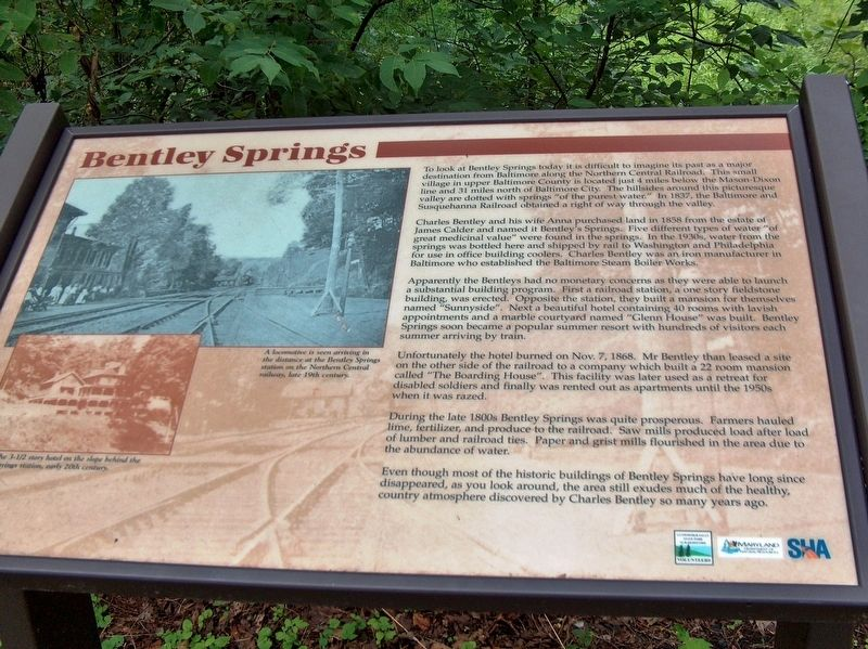 Bentley Springs Marker image. Click for full size.