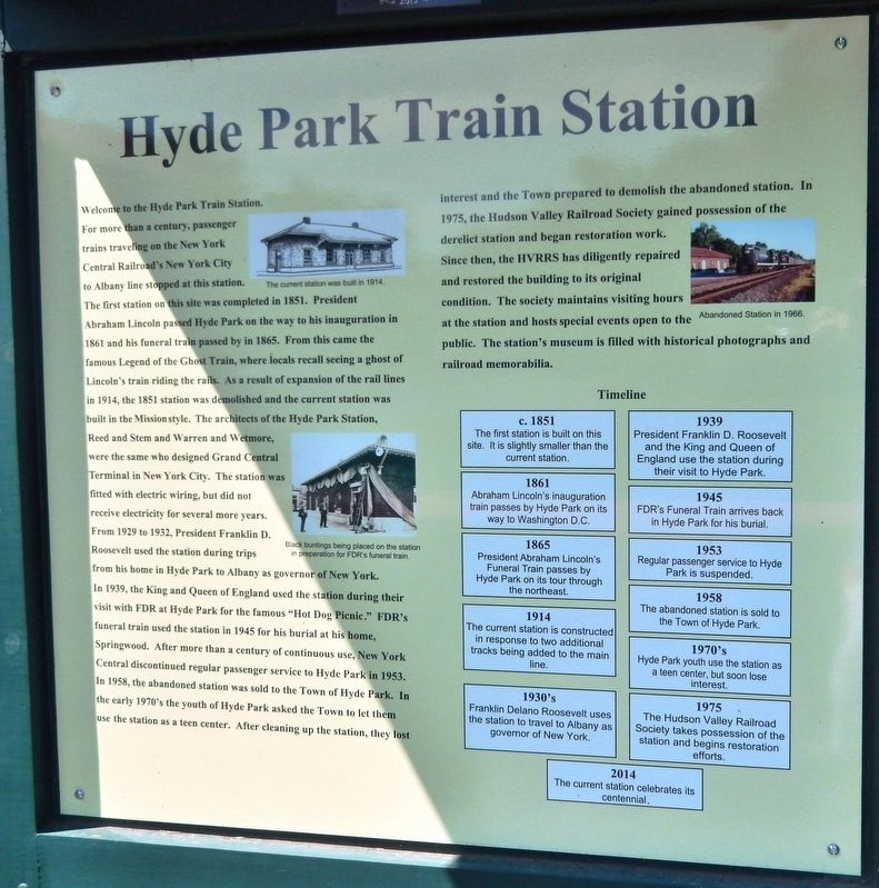 Hyde Park Train Station Marker image. Click for full size.
