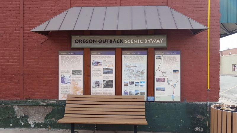 Oregon Outback Scenic Byway Markers image. Click for full size.