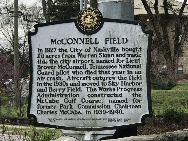 McConnell Field Marker image. Click for full size.
