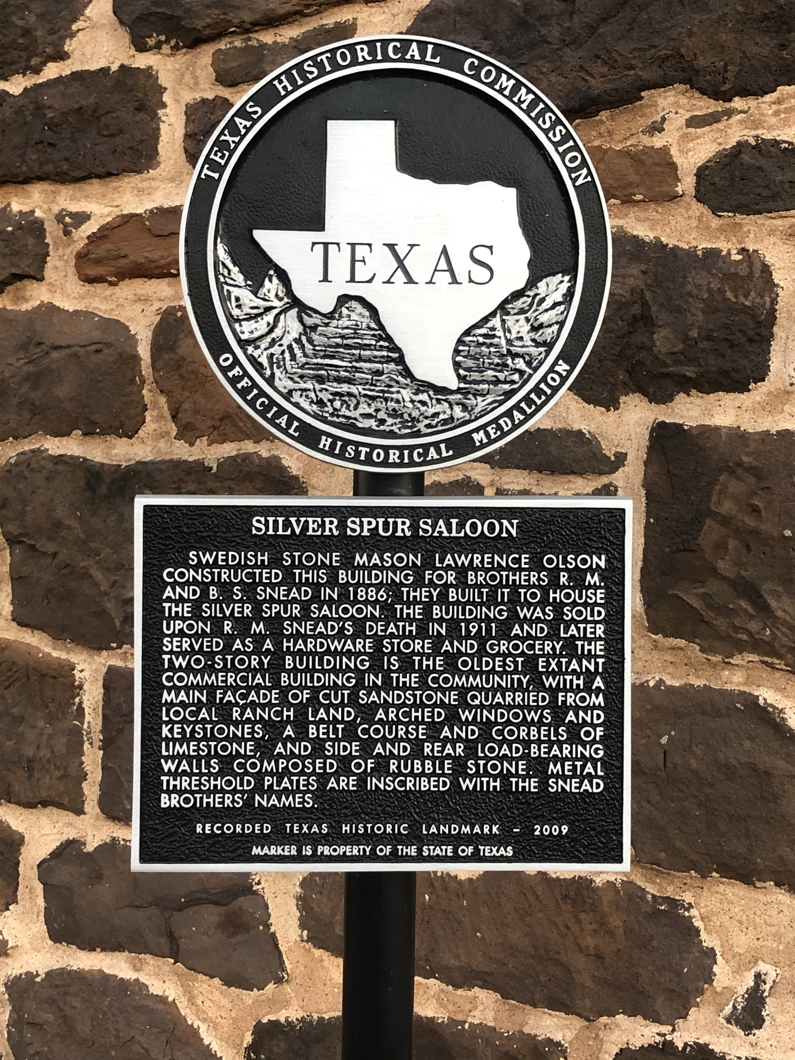 Silver Spur Saloon Marker