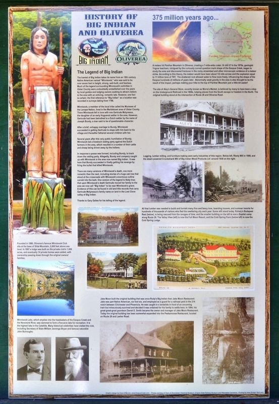 History of Big Indian and Oliverea Marker image. Click for full size.