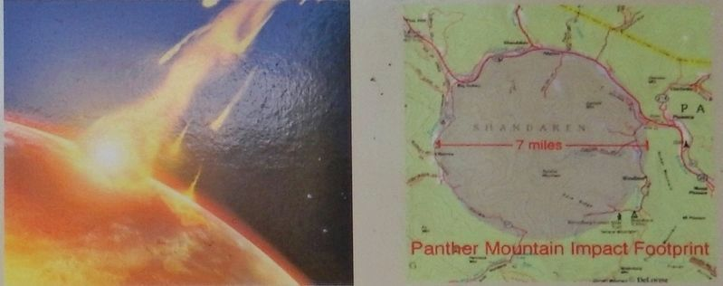 Marker detail: 375 Million Years Ago<br>Panther Mountain Impact Footprint image. Click for full size.