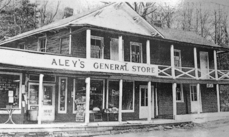 Marker detail: Aley's General Store image. Click for full size.