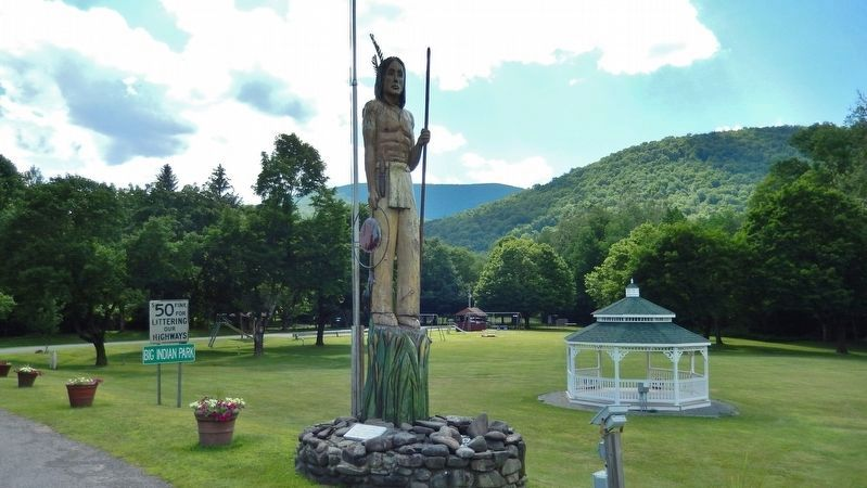 "Winnisook ""Big Indian"" Statue near park entrance image. Click for full size."