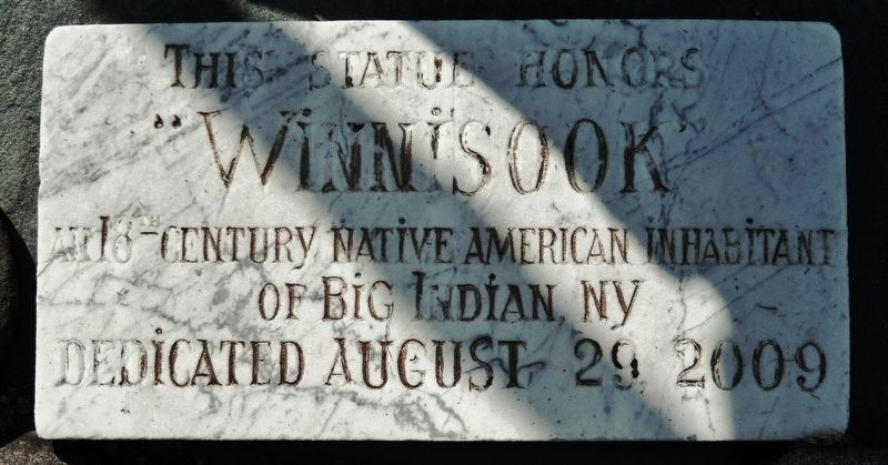 Winnisook Statue Marker image. Click for full size.