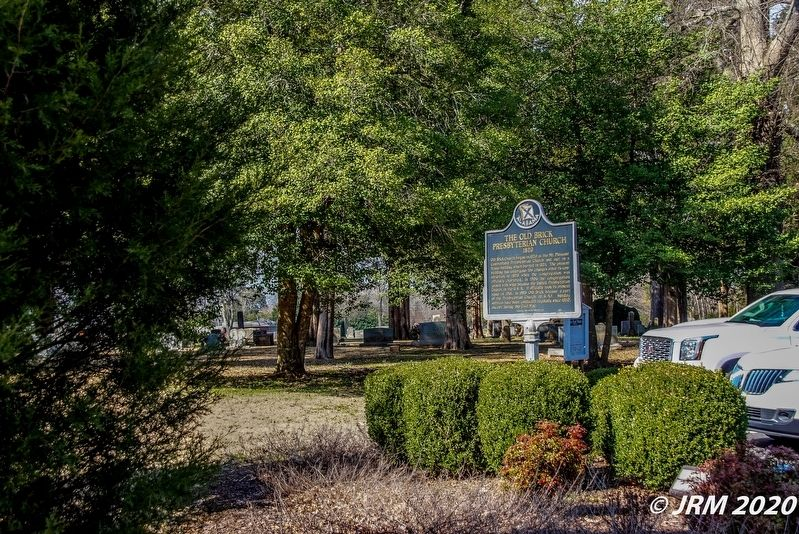 Old Brick Presbyterian Church Cemetery and Marker image. Click for full size.