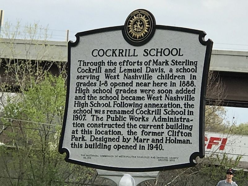 Cockrill School Marker image. Click for full size.