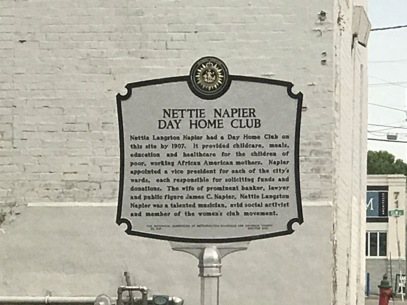 Nettie Napier Day Home Club Marker image. Click for full size.