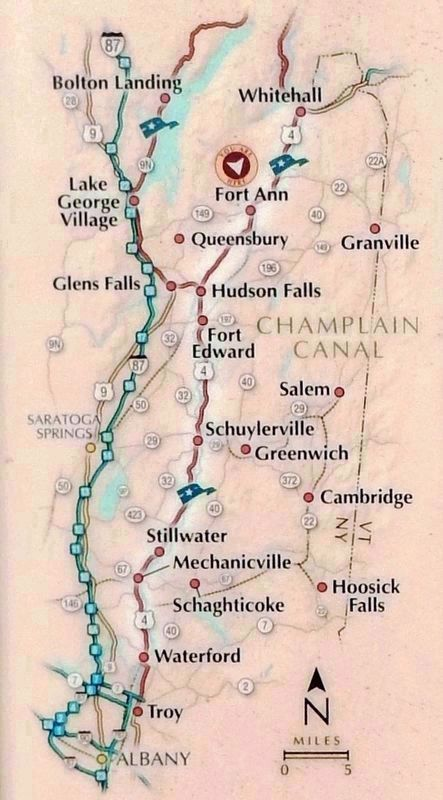 Marker detail: Champlain Canal Map image. Click for full size.