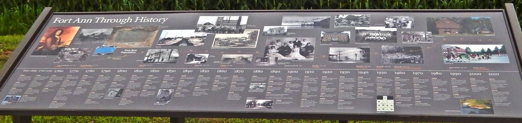 Fort Ann Through History Marker image. Click for full size.