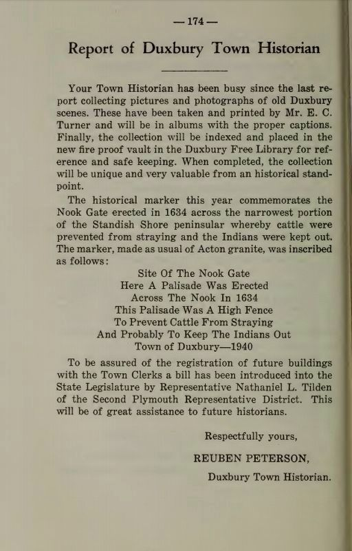 Mention of the Nook Gate from 1940 image. Click for full size.