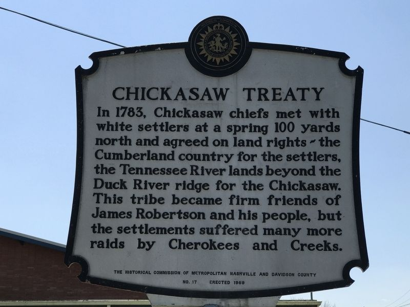 Chickasaw Treaty Marker image. Click for full size.
