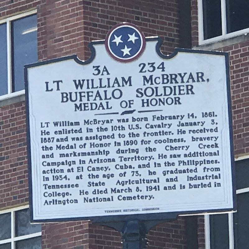 Lt William McBryar, Buffalo Soldier Marker image. Click for full size.