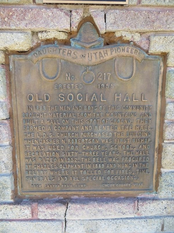 Old Social Hall Marker image. Click for full size.