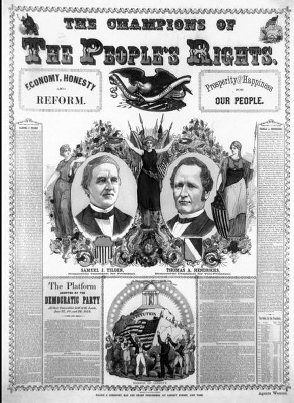 Campaign poster for the election of 1876 image. Click for full size.