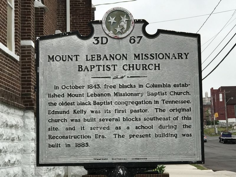 Mount Lebanon Missionary Baptist Church Marker image. Click for full size.