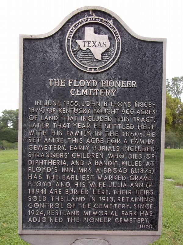The Floyd Pioneer Cemetery Marker image. Click for full size.