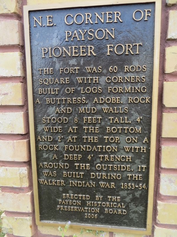 N.E. Corner of Payson Pioneer Fort Marker image. Click for full size.