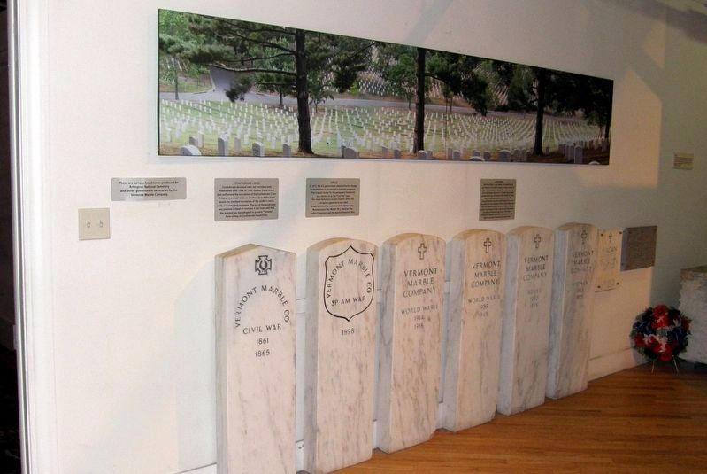Samples of headstones produced for Arlington National Cemetery. image. Click for full size.